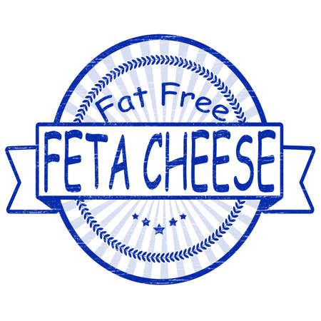 Stamp,with text feta cheese inside, vector illustration