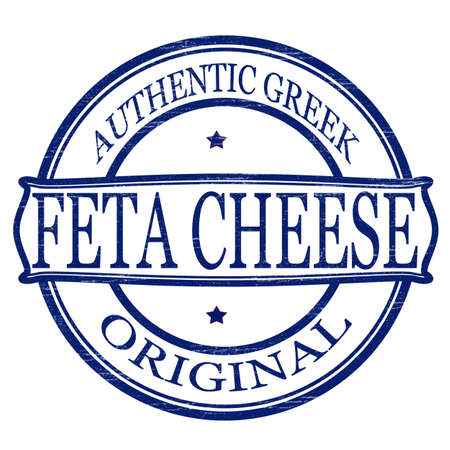 Stamp with text feta cheese inside, vector illustration Иллюстрация