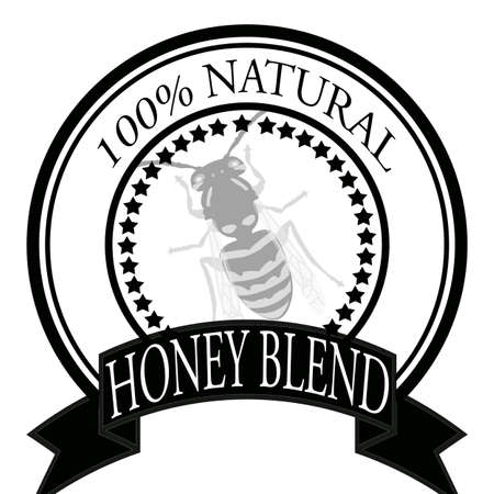 admixture: Stamp with text honey blend inside, vector illustration
