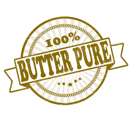 mere: Stamp with text butter pure inside, vector illustration