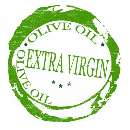 aceite de oliva virgen extra: Sello con texto de aceite de oliva virgen extra en el interior, ilustraci�n vectorial
