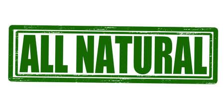 innate: Timbro con testo tutto dentro naturale, illustrazione vettoriale Vettoriali