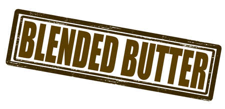 admixture: Stamp with text blended butter inside, vector illustration