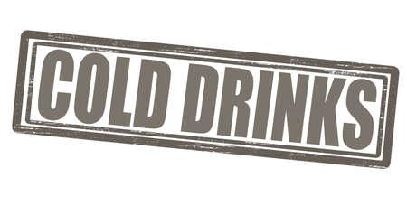 bebidas frias: Sello con texto bebidas fr�as en el interior, ilustraci�n vectorial