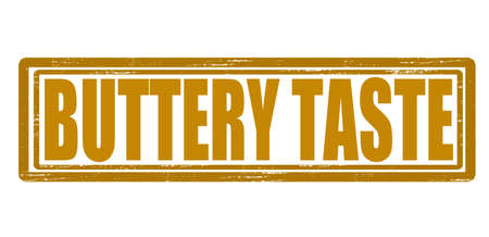 buttery: Stamp with text buttery taste inside, vector illustration Illustration