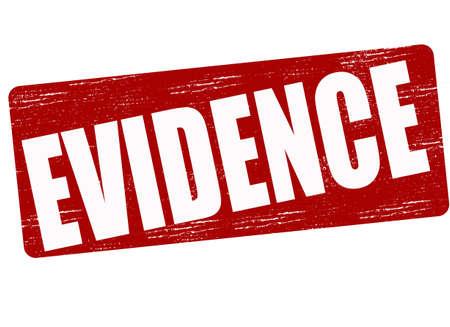 testigo: Sello con la evidencia de la palabra interior, ilustraci�n vectorial