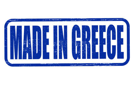 made in greece stamp: Stamp with text made in Greece inside, vector illustration