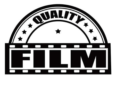 feature films: Stamp with text quality film inside, vector illustration Illustration