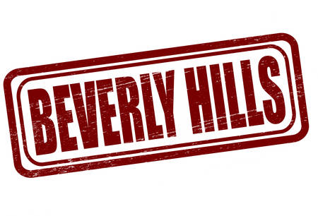 beverly hills: Stamp with text Beverly Hills inside, vector illustration Illustration