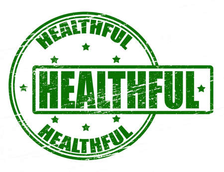 healthful: Stamp with word healthful inside, vector illustration