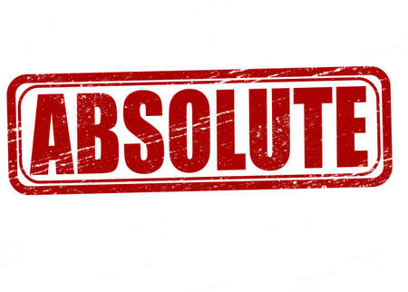 absolute: Stamp with word absolute inside, vector illustration Illustration