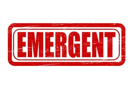 emergent: Stamp with word emergent inside, vector illustration