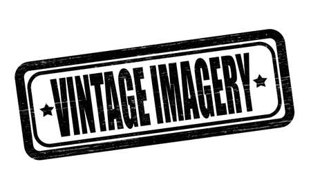 imagery: Stamp with text vintage imagery inside, vector illustration