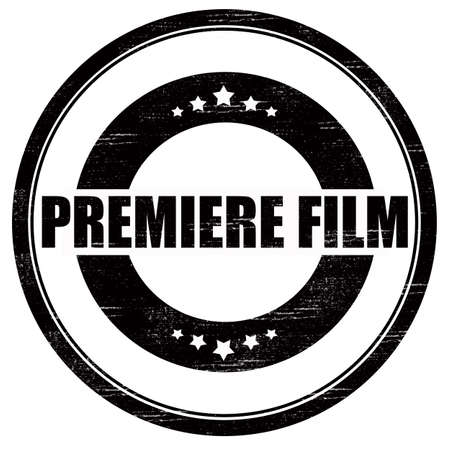 premier: Stamp with text premiere film inside, vector illustration