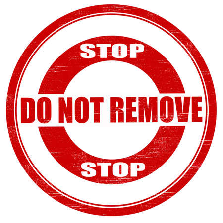 eliminate: Stamp with text do not remove inside, vector illustration