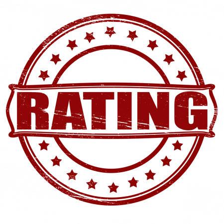estimation: Stamp with word rating inside, vector illustration