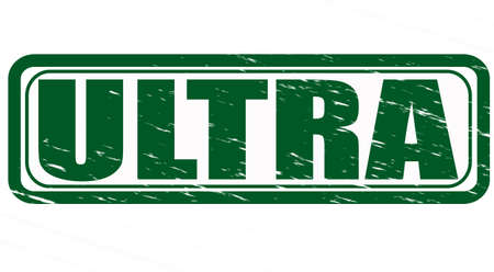 ultra: Stamp with word ultra inside, vector illustration