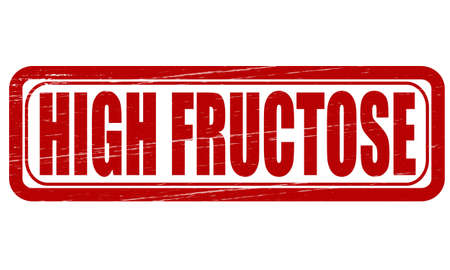 Stamp with text high fructose inside, vector illustration