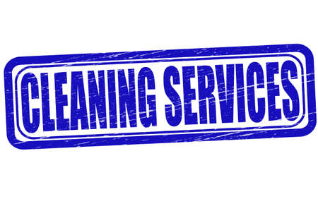 clearness: Stamp with text cleaning services inside, vector illustration