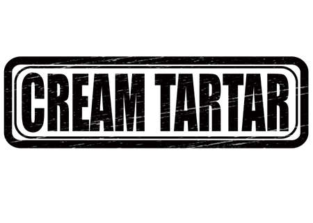 Stamp with text cream tartar inside, vector illustration