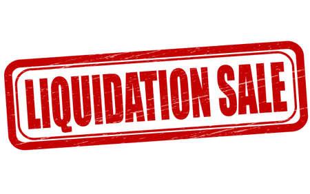liquidation: Stamp with text liquidation sale inside, vector illustration Illustration