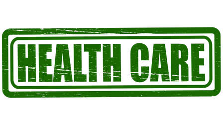 healthfulness: Stamp with text health care inside, vector illustration Illustration