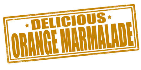 marmalade: Stamp with text delicious orange marmalade inside, vector illustration