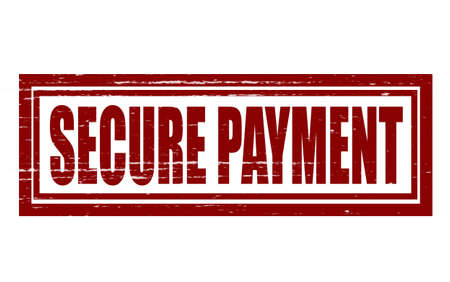 secure payment: Stamp with text secure payment inside, illustration