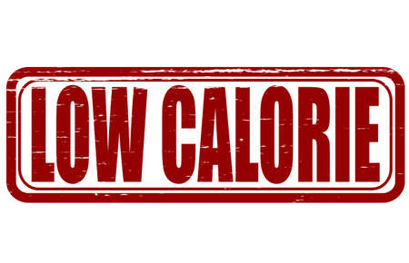 calories poor: Stamp with text low calorie inside, vector illustration