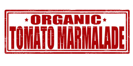 marmalade: Stamp with text tomato marmalade inside, illustration Illustration