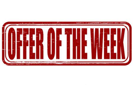 Selo com oferta texto da semana dentro, ilustra