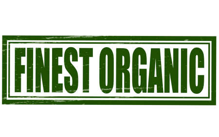 finest: Stamp with text finest organic inside, vector illustration