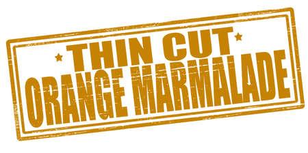 orange cut: Sello con texto delgada mermelada de naranja cortada en el interior, ilustraci�n vectorial Vectores