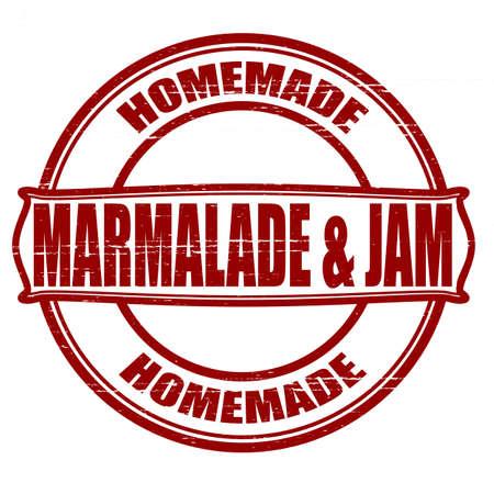 marmalade: Stamp con le parole marmellata e marmellata dentro, illustrazione vettoriale