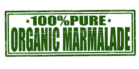 marmalade: Stamp with text organic marmalade inside Illustration