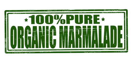 marmalade: Timbro con testo di marmellata biologica all'interno