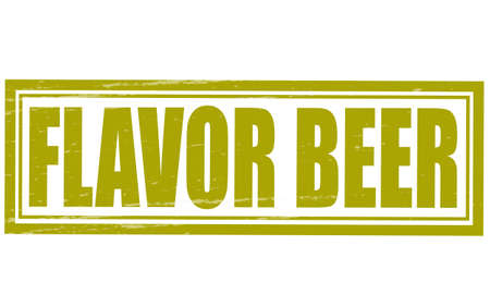 Stamp with text flavor beer inside