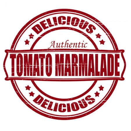 marmalade: Timbro con il testo deliziosa marmellata dentro