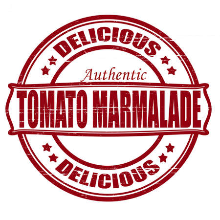 marmalade: Stamp with text delicious marmalade inside