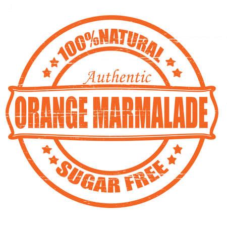marmalade: Timbro con testo di marmellata di arance dentro, illustrazione vettoriale
