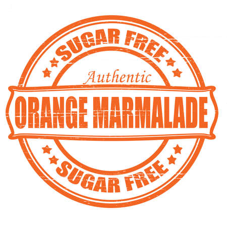 marmalade: Stamp with text orange marmalade inside, vector illustration Illustration