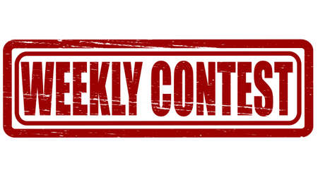 concurrence: Stamp with text weekly contest inside, vector illustration Illustration