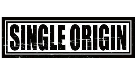 origin: Stamp with text single origin inside, vector illustration