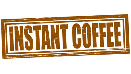 instant coffee: Stamp with text instant coffee inside, vector illustration