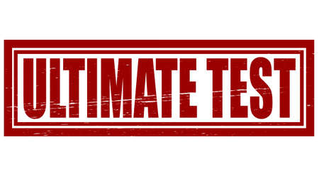 ultimate: Stamp with text ultimate test inside, vector illustration Illustration