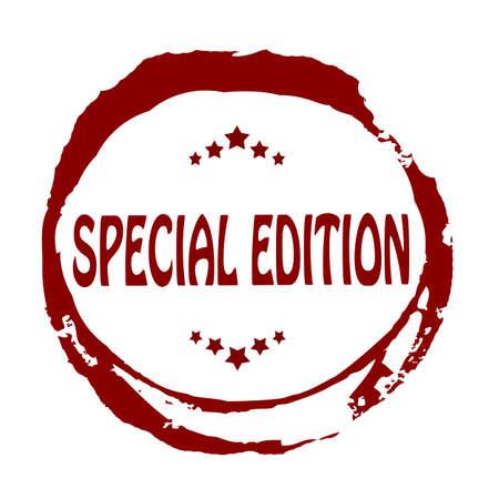 edizione straordinaria: Timbro con edizione speciale testo dentro, illustrazione vettoriale