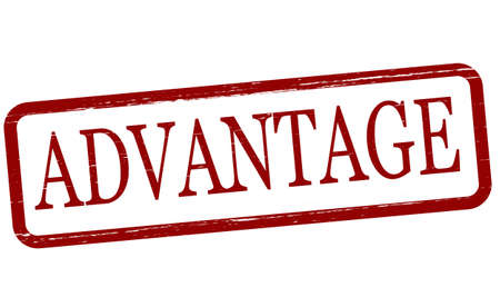 advantage: Stamp with word advantage inside, vector illustration