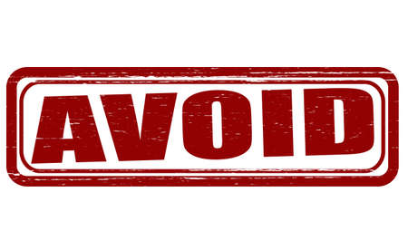 evade: Stamp with word avoid inside, vector illustration Illustration