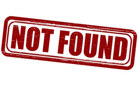 not found: Sello con el texto que no se encuentra en el interior, ilustraci�n vectorial