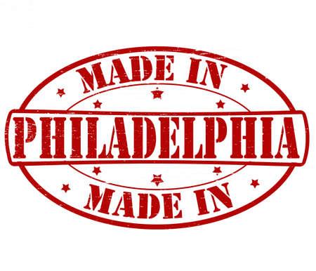 philadelphia: Stamp with text made in Philadelphia inside, vector illustration